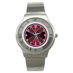 3d Abstract Ring Stainless Steel Watch