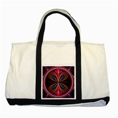 3d Abstract Ring Two Tone Tote Bag