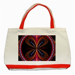 3d Abstract Ring Classic Tote Bag (Red)