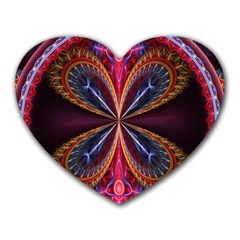 3d Abstract Ring Heart Mousepads