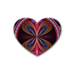 3d Abstract Ring Rubber Coaster (Heart)
