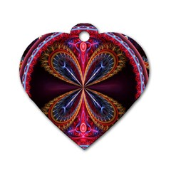 3d Abstract Ring Dog Tag Heart (one Side)
