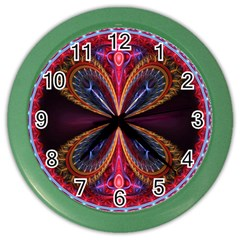 3d Abstract Ring Color Wall Clocks