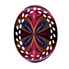 3d Abstract Ring Oval Filigree Ornament (Two Sides)