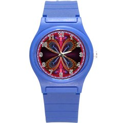 3d Abstract Ring Round Plastic Sport Watch (S)