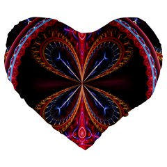 3d Abstract Ring Large 19  Premium Heart Shape Cushions