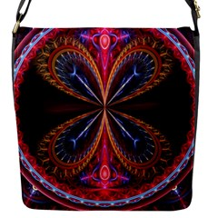 3d Abstract Ring Flap Messenger Bag (s)