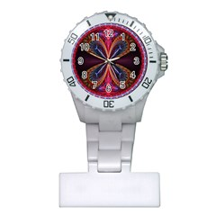 3d Abstract Ring Plastic Nurses Watch