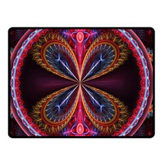 3d Abstract Ring Double Sided Fleece Blanket (Small)