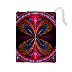 3d Abstract Ring Drawstring Pouches (Large)