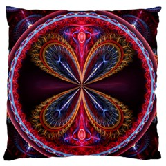 3d Abstract Ring Large Flano Cushion Case (Two Sides)