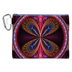 3d Abstract Ring Canvas Cosmetic Bag (XXL)