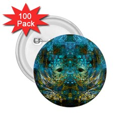 Blue Gold Modern Abstract Geometric 2.25  Buttons (100 pack)
