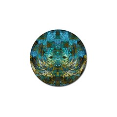Blue Gold Modern Abstract Geometric Golf Ball Marker (10 pack)