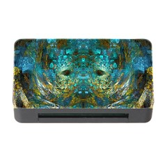Blue Gold Modern Abstract Geometric Memory Card Reader with CF