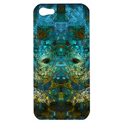 Blue Gold Modern Abstract Geometric Apple iPhone 5 Hardshell Case