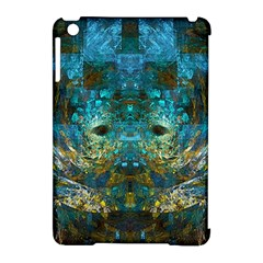 Blue Gold Modern Abstract Geometric Apple iPad Mini Hardshell Case (Compatible with Smart Cover)
