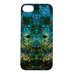 Blue Gold Modern Abstract Geometric Apple iPhone 5S/ SE Hardshell Case