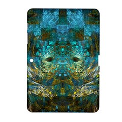 Blue Gold Modern Abstract Geometric Samsung Galaxy Tab 2 (10.1 ) P5100 Hardshell Case