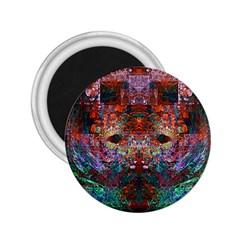 Modern Abstract Geometric Art Rainbow Colors 2.25  Magnets