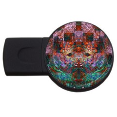 Modern Abstract Geometric Art Rainbow Colors Usb Flash Drive Round (2 Gb)