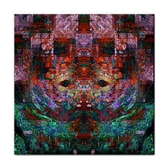 Modern Abstract Geometric Art Rainbow Colors Face Towel