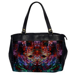 Modern Abstract Geometric Art Rainbow Colors Office Handbags
