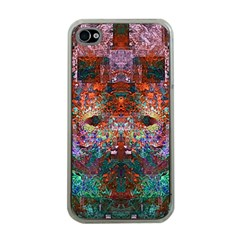 Modern Abstract Geometric Art Rainbow Colors Apple iPhone 4 Case (Clear)