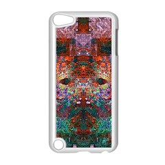 Modern Abstract Geometric Art Rainbow Colors Apple iPod Touch 5 Case (White)
