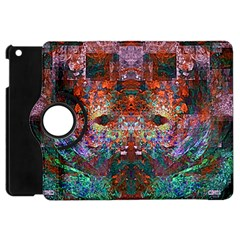 Modern Abstract Geometric Art Rainbow Colors Apple iPad Mini Flip 360 Case