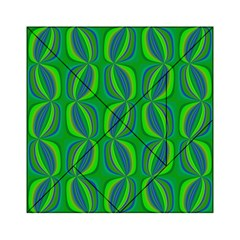 Blue Green Ethnic Print Pattern Acrylic Tangram Puzzle (6  x 6 )