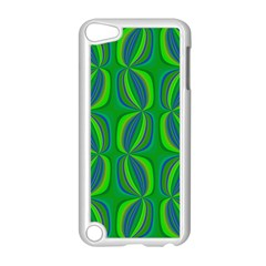 Blue Green Ethnic Print Pattern Apple iPod Touch 5 Case (White)