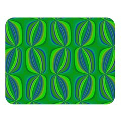 Blue Green Ethnic Print Pattern Double Sided Flano Blanket (Large)