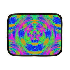 Boho Hippie Retro Psychedlic Neon Rainbow Netbook Case (Small)
