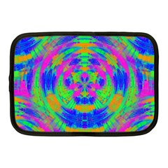 Boho Hippie Retro Psychedlic Neon Rainbow Netbook Case (Medium)