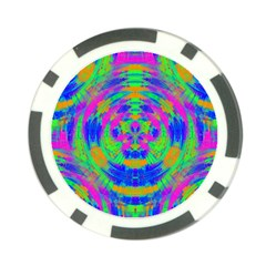 Boho Hippie Retro Psychedlic Neon Rainbow Poker Chip Card Guard (10 pack)