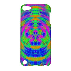 Boho Hippie Retro Psychedlic Neon Rainbow Apple iPod Touch 5 Hardshell Case