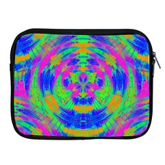 Boho Hippie Retro Psychedlic Neon Rainbow Apple iPad Zipper Case