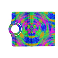 Boho Hippie Retro Psychedlic Neon Rainbow Kindle Fire HD (2013) Flip 360 Case
