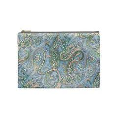Paisley Boho Hippie Retro Fashion Print Pattern  Cosmetic Bag (Medium)
