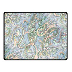 Paisley Boho Hippie Retro Fashion Print Pattern  Fleece Blanket (Small)