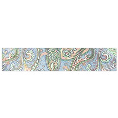 Paisley Boho Hippie Retro Fashion Print Pattern  Flano Scarf (Small)