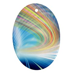 Glow Motion Lines Light Ornament (Oval)