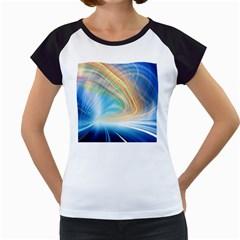 Glow Motion Lines Light Women s Cap Sleeve T