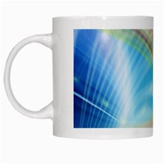 Glow Motion Lines Light White Mugs