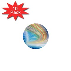 Glow Motion Lines Light 1  Mini Buttons (10 pack)