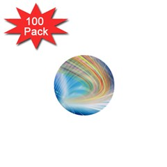 Glow Motion Lines Light 1  Mini Buttons (100 pack)