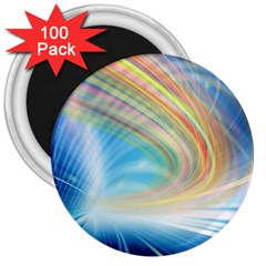 Glow Motion Lines Light 3  Magnets (100 pack)