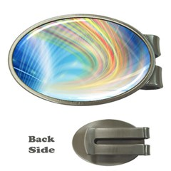 Glow Motion Lines Light Money Clips (oval)