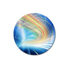 Glow Motion Lines Light Magnet 3  (Round)